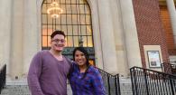 Image of Terriere Scholarship Recipients Justin Vazquez-Ellis and Richelle Castro.